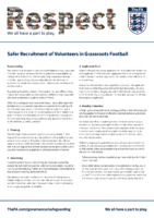 Safer Recruitment Advice For Clubs