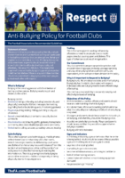 FA Anti Bullying Policy For Clubs