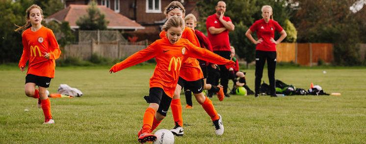 Rugby Borough U8 Girls v Coalville U8 Girls Match Photo