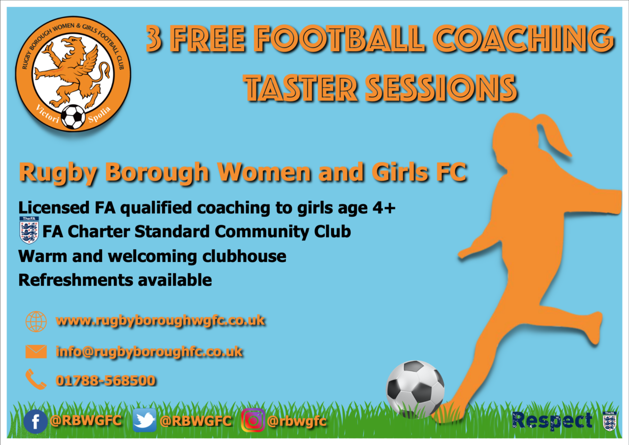 Rugby Borough Women & Girls - Free taster sessions promo