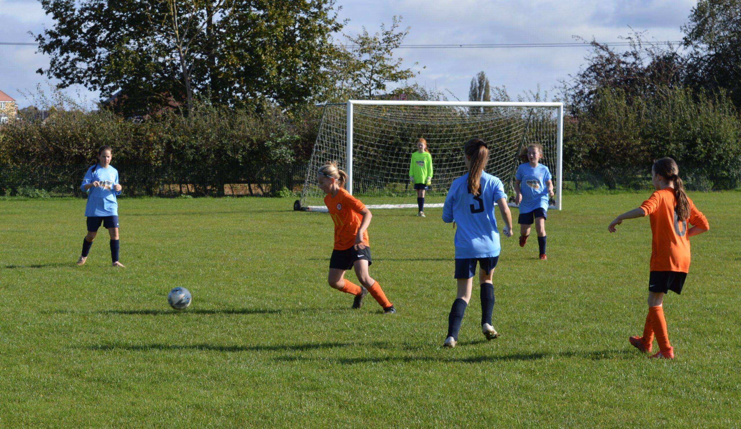 Asfordby Amateurs U12s vs Rugby Borough Girls U12s - Match Photo