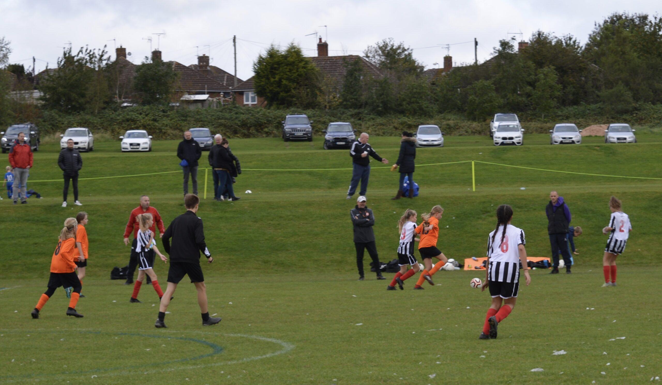 Rugby Borough Girls U12s v Coalville Town Girls U12s Match Photo