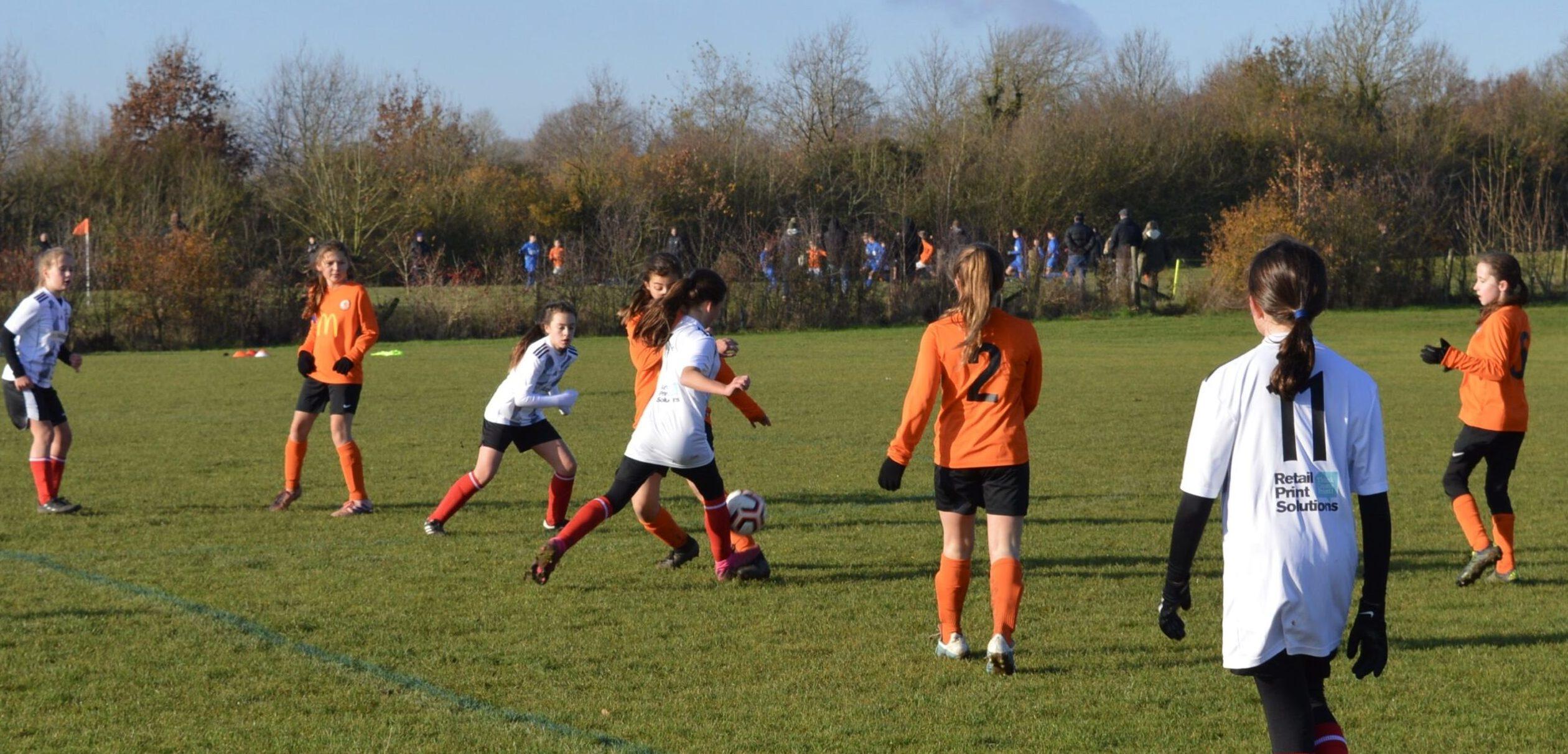 Rugby Borough Girls U12s v Cosby United Youth Girls U12s - Match Photo