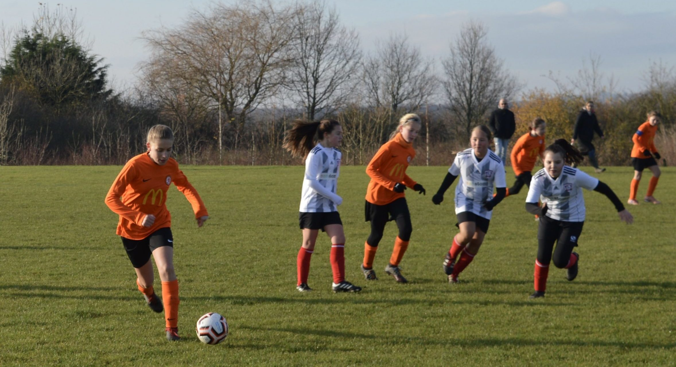 Rugby Borough Girls U12s v Cosby United Youth Girls U12s - Match Photo