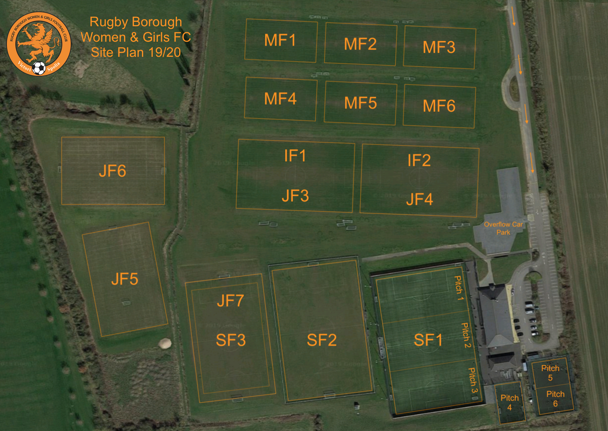 Rugby Borough FC - Pitches
