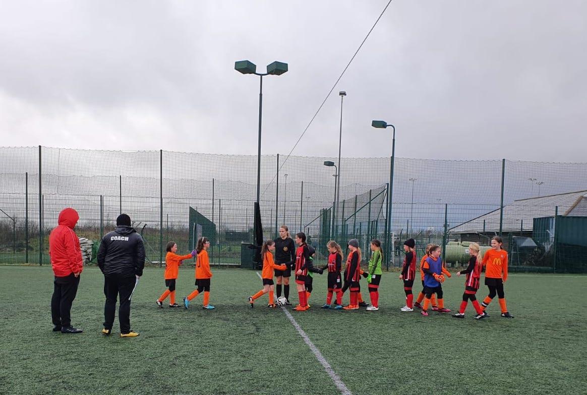 Rugby Borough U10 Girls vs Barrow Town U10 Girls Match Photo