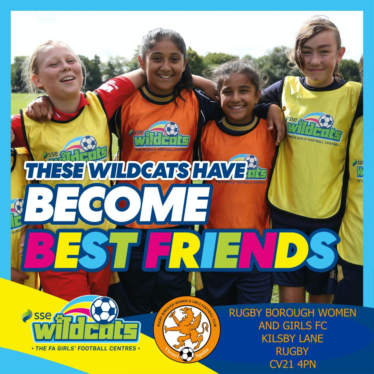 Wildcats Become Best Friends & Rugby Borough Women & Girls Promo post