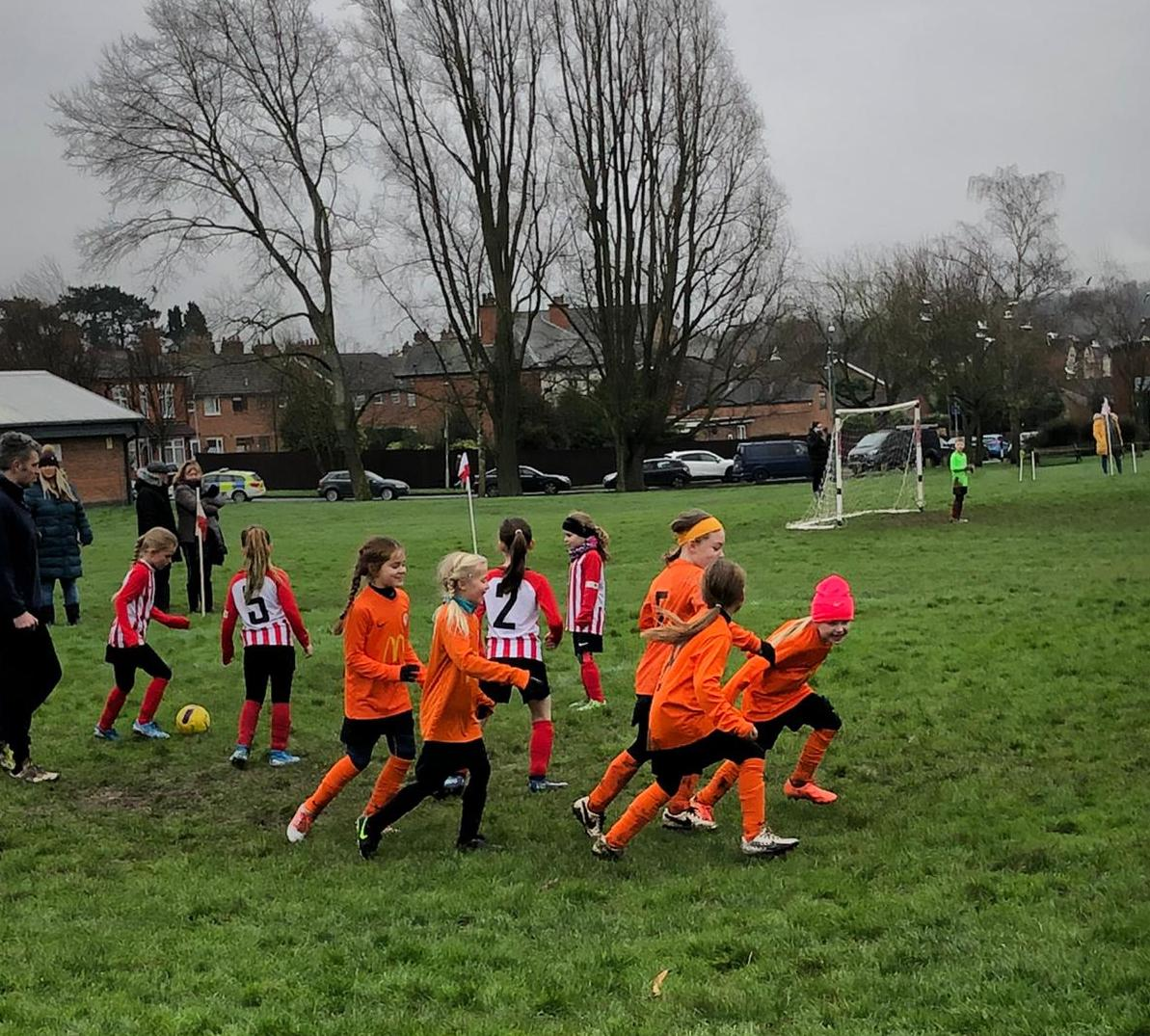 Anstey Nomads v Rugby Borough Girls U8s - Match Photo