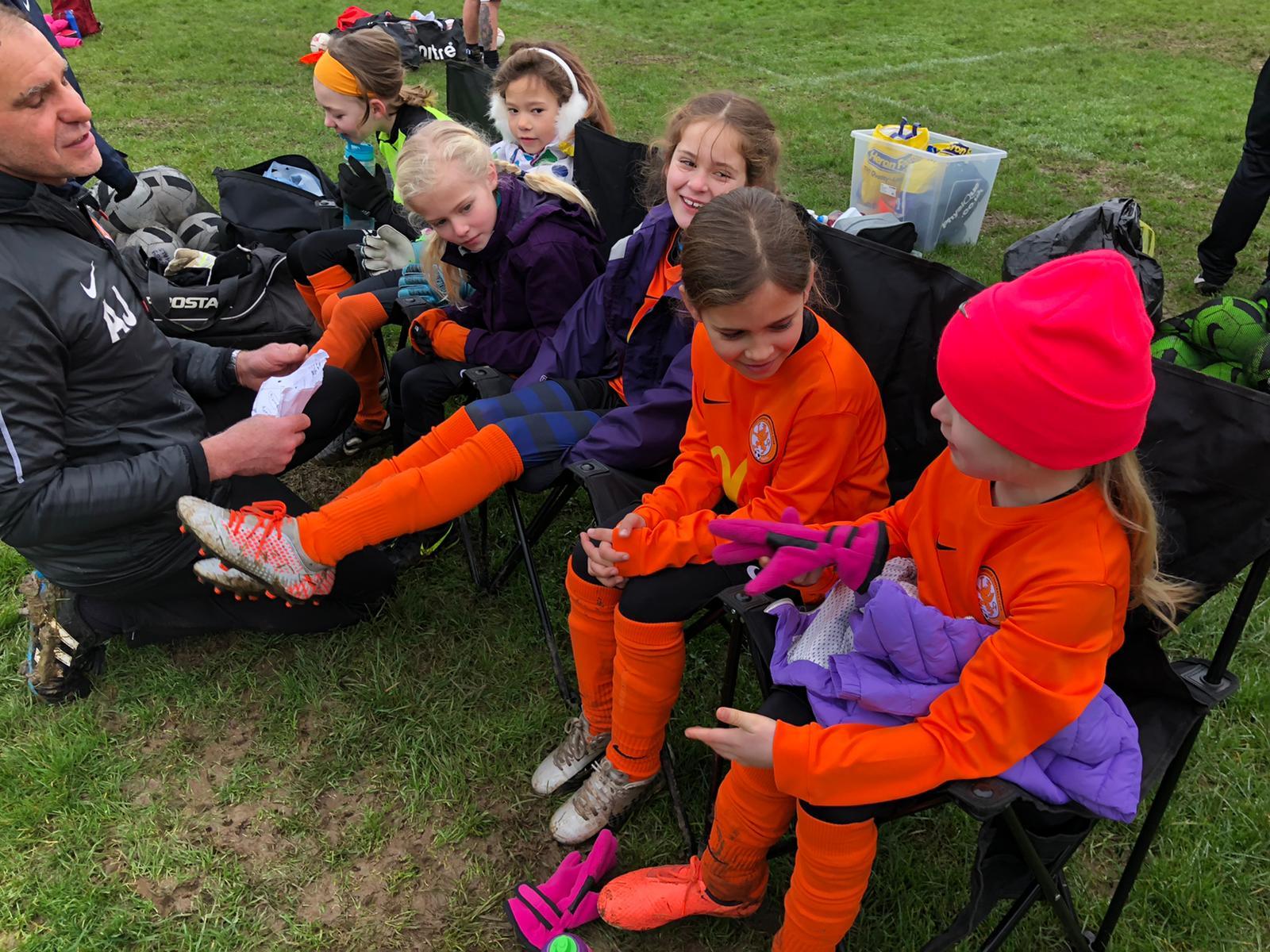 Anstey Nomads v Rugby Borough Girls U8s - Match Photo