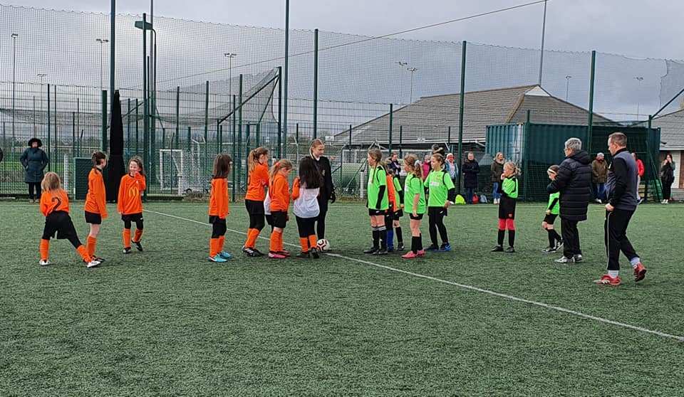 Rugby Borough Girls U10s v Hinckley Greentowers - Match photo