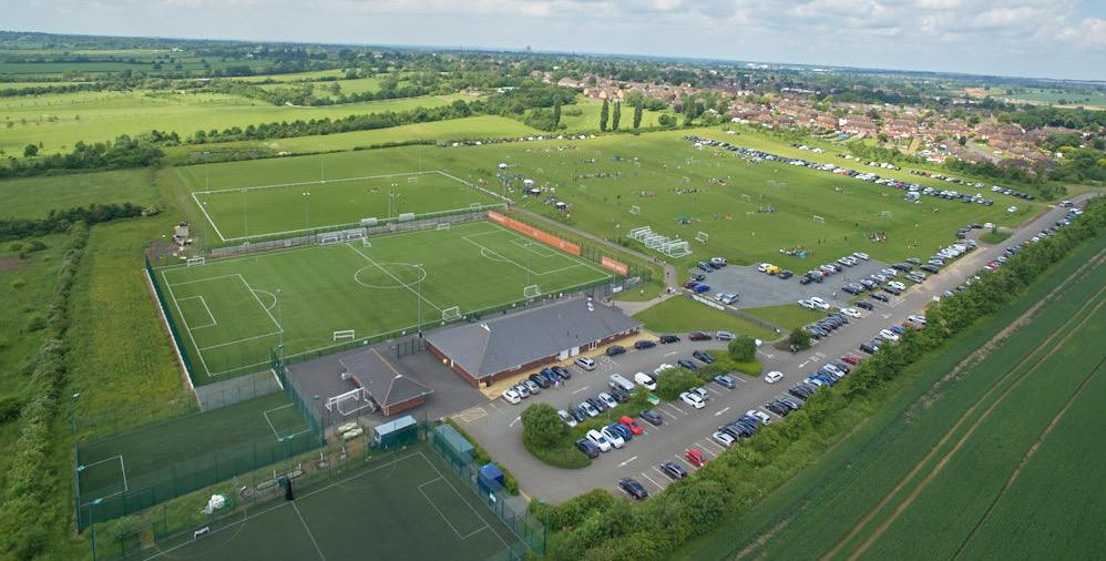 Rugby Borough FC - Aerial shot of Kilsby Lane