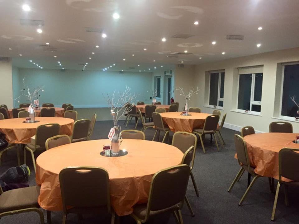 Rugby Borough FC - Event room setup 1