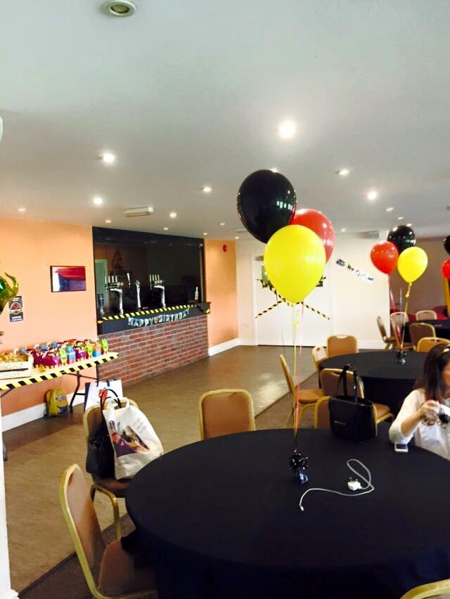 Rugby Borough FC - Event room setup birthday party