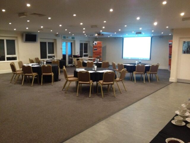 Rugby Borough FC - Event room setup conference
