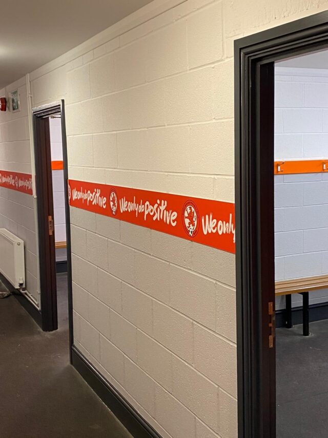Rugby Borough FC - New changing rooms
