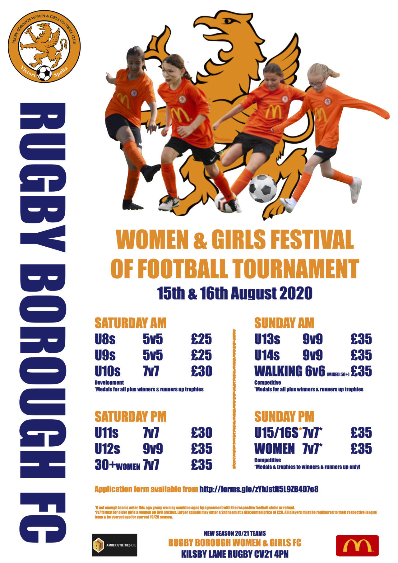 Rugby Borough Women & Girls Festival of Football 2020 | Rugby Borough FC