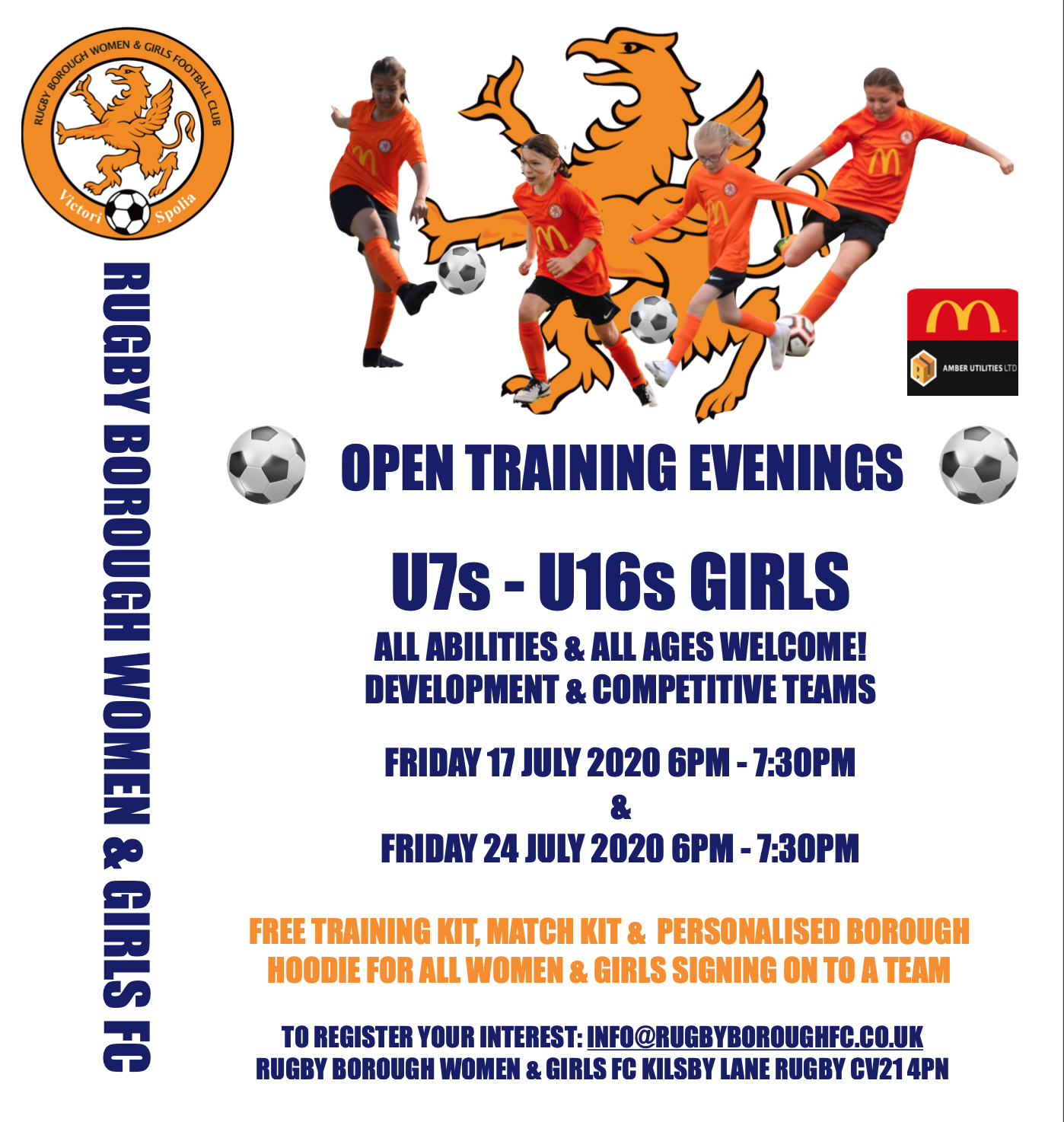Rugby Borough Girls U12s v Anstey Nomads U12s | Rugby Borough FC