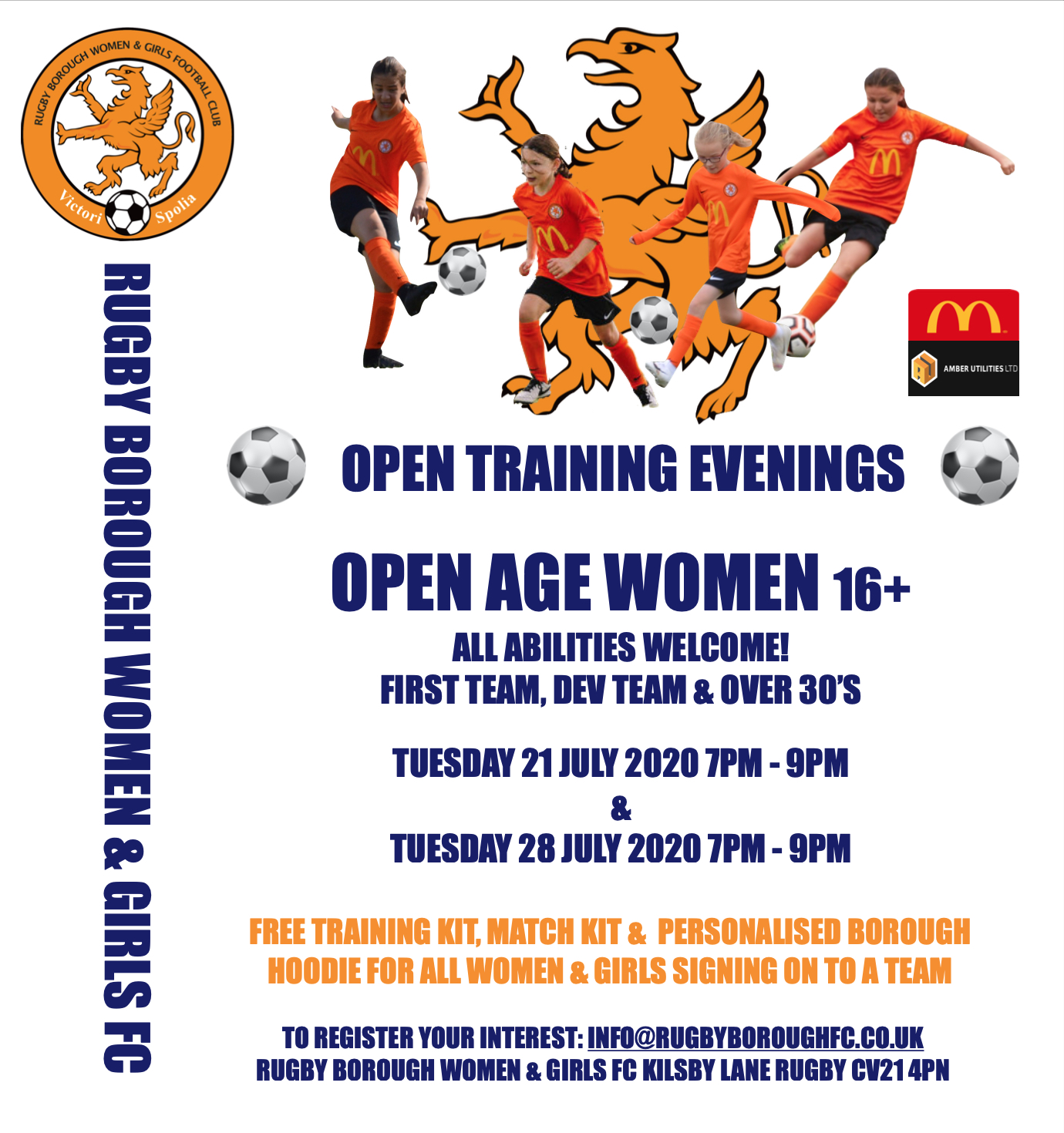 Women's 16+ Open Training Sessions Extended | Rugby Borough FC