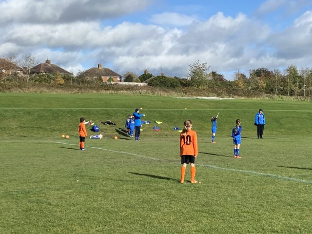 Under 9 Girls v Croft - match photo - 11