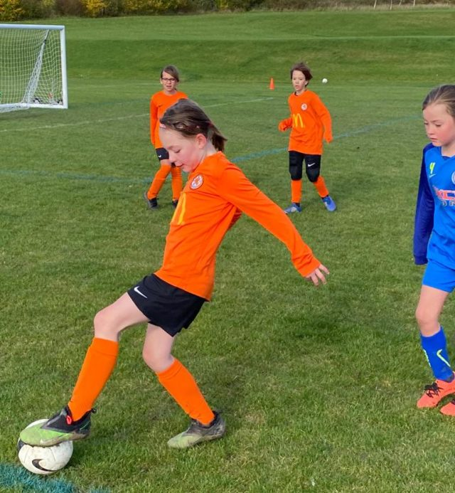 Under 9 Girls v Croft - match photo - 2