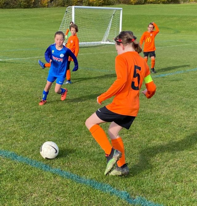 Under 9 Girls v Croft - match photo - 3