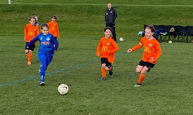 Under 9 Girls v Croft - match photo - 4