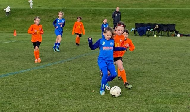 Under 9 Girls v Croft - match photo - 5