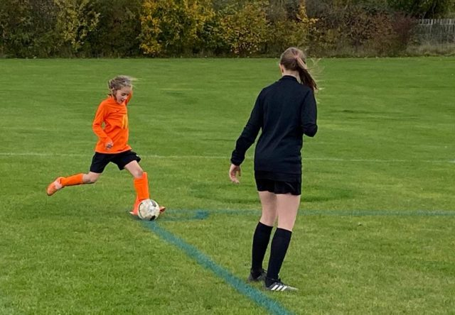 Under 9 Girls v Croft - match photo - 8