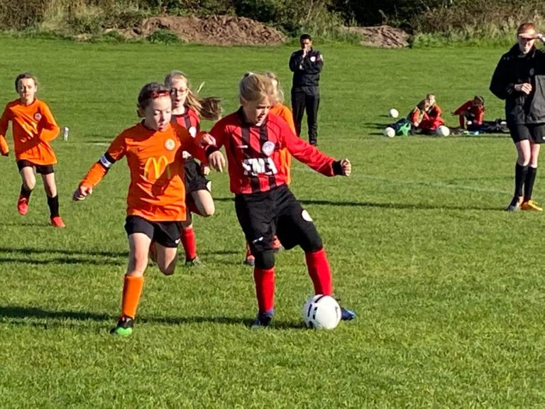 Under 9 Girls v Dunton & Broughton - Match photo