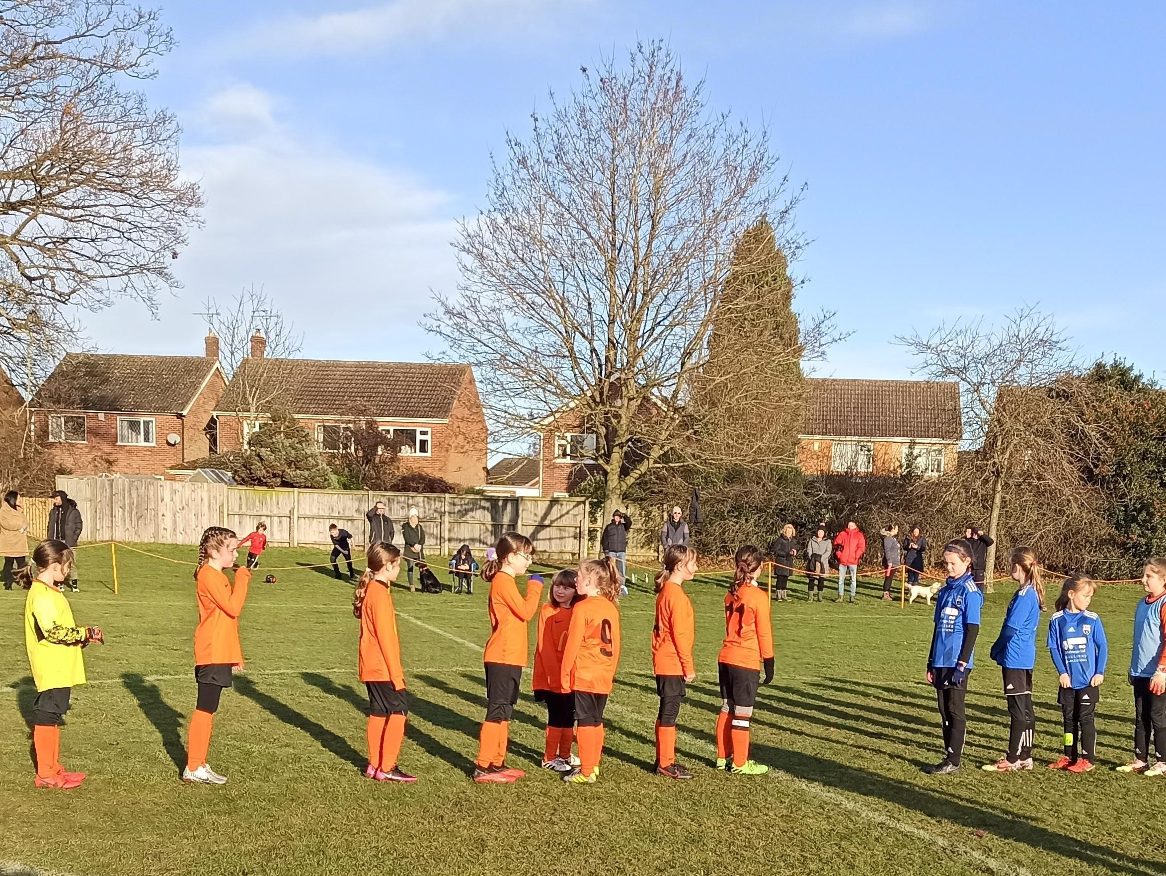 U9 Girls take on Dunton & Broughton United | Rugby Borough FC
