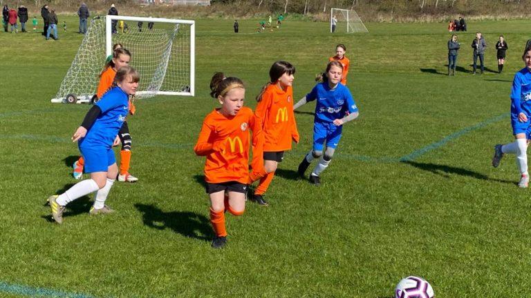 RBWGFC - U9 Girls v Blaby - Match photo - 6