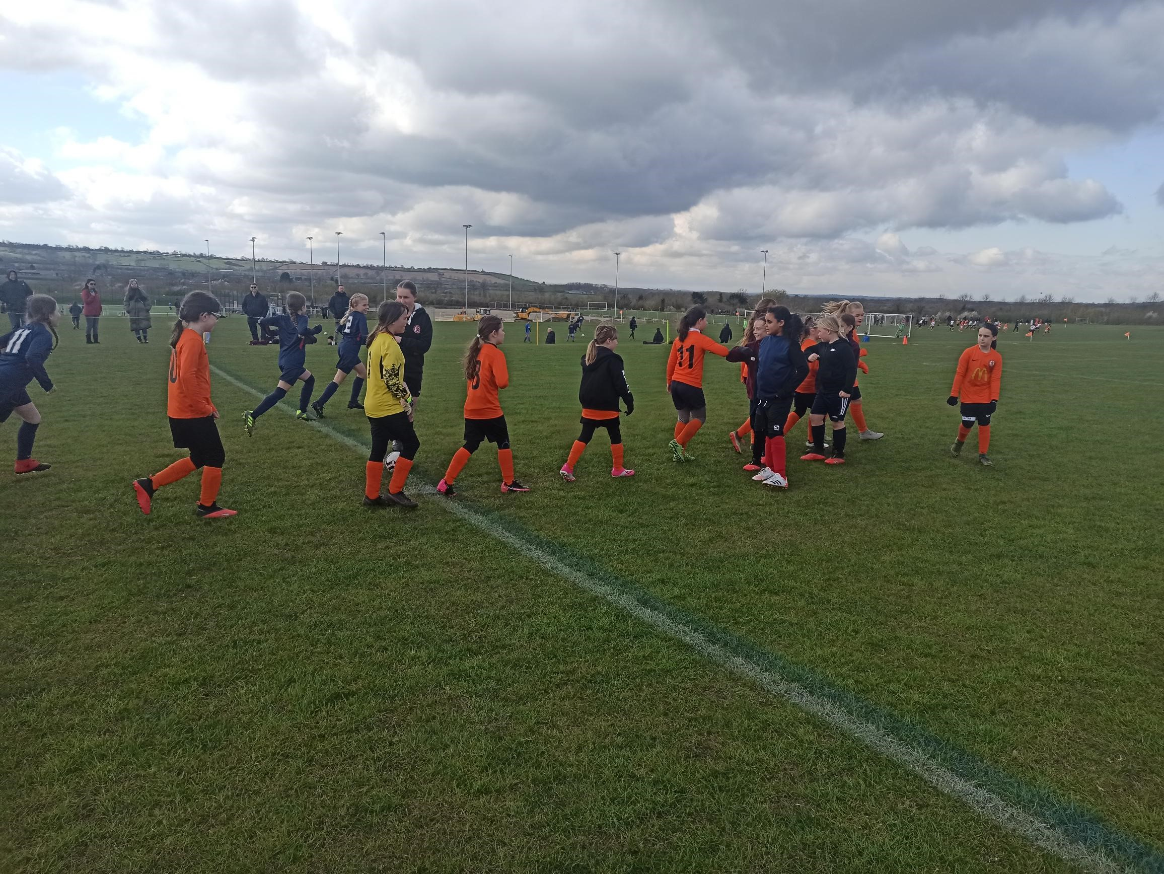 U11 Girls kick off new season | Rugby Borough FC