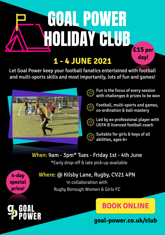 School Holiday Club - Rugby Borough & Goal Power