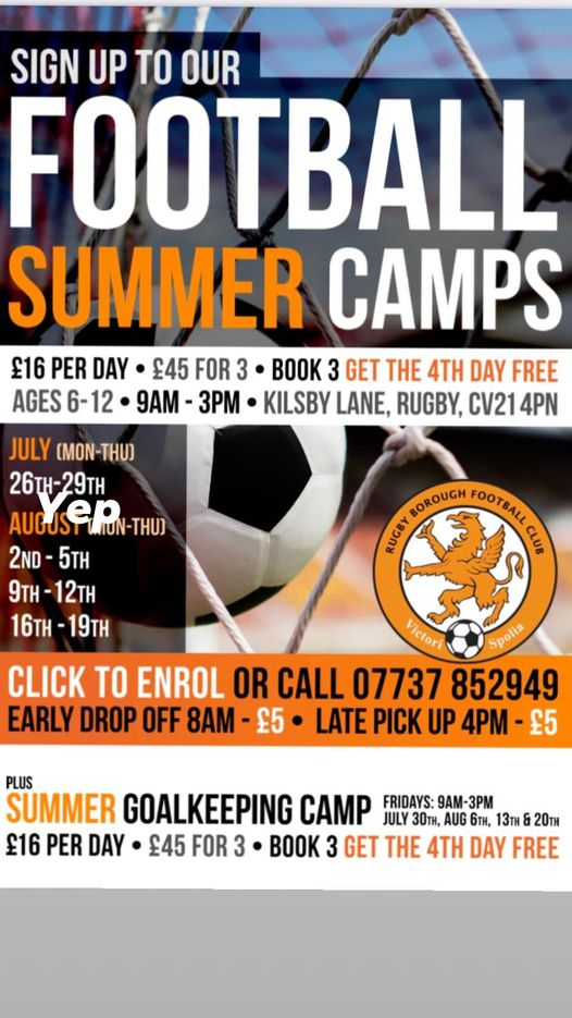 Football Holiday Camps | Rugby Borough FC